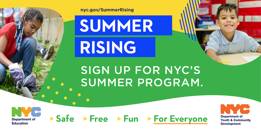 Permalink to: Summer Rising is New York City's free summer plan for any child in grades K-12